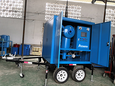 MTP Mobile Transformer Oil Purification Treatment Plant Mounted On Trailer
